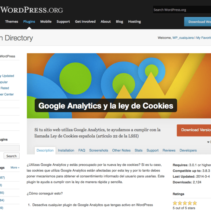 Cookies y Wordpress